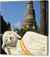 Thailand, Ayathaya Canvas Print