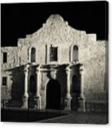 The Alamo At Night - San Antonio Texas Canvas Print