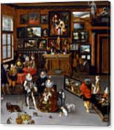 The Archdukes Albert And Isabella Visiting A Collector's Cabinet Canvas Print