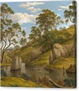 The Bath Of Diana. Van Diemen's Land Canvas Print