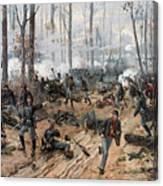 The Battle Of Shiloh Canvas Print