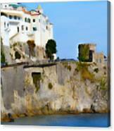 The Beach At Amalfi Canvas Print