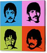 The Beatles Colors Canvas Print