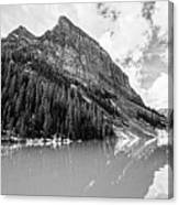 The Beauty Of Lake Louise Bw Canvas Print