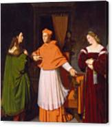 The Betrothal Of Raphael And The Niece Of Cardinal Bibbiena Canvas Print
