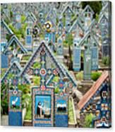 The Blue Cemetery Canvas Print