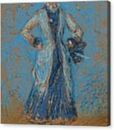 The Blue Girl Canvas Print