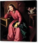 The Child Virgin Asleep Canvas Print