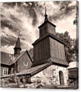The Church Of Fagervik Canvas Print