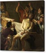 The Crowning With Thorns Of Jesus Canvas Print