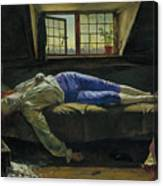The Death Of Chatterton Canvas Print