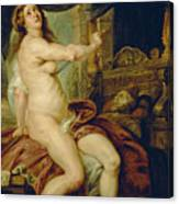 Panthea Stabbing Herself With A Dagger After The Death Of Her Husband Abradates Canvas Print