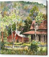 The Delonde Homestead At Caribou Ranch Canvas Print