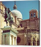 The Equestrian Statue Of Bartolomeo Colleoni In Venice Canvas Print