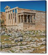 The Erechtheum On The Acropolis, Athens, Greece Canvas Print