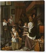 The Feast Of St. Nicholas Canvas Print