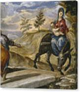 The Flight Into Egypt Canvas Print