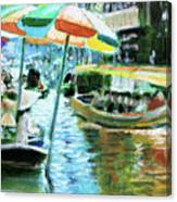 The Floating Market Canvas Print