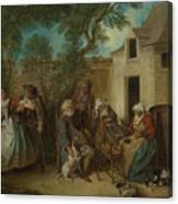 The Four Ages Of Man   Old Age Canvas Print