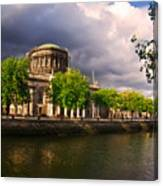 The Four Courts In Reconstruction 2 Canvas Print