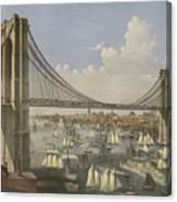 The Great East River Suspension Bridge Canvas Print