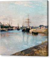 The Harbor At Lorient Canvas Print