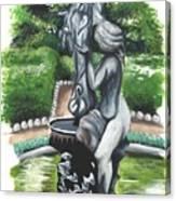 The Hidden Fountain Canvas Print