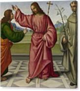 The Incredulity Of Saint Thomas Canvas Print