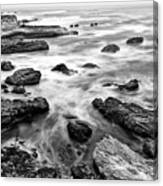 The Jagged Rocks And Cliffs Of Montana De Oro State Park Canvas Print