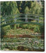 The Japanese Footbridge And The Water Lily Pool Giverny Canvas Print