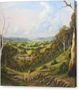 The Lost Sheep In The Scrub Canvas Print