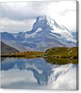 The Matterhorn And Lake Stellisee Canvas Print