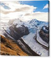 The Monte Rosa Massif In Switzerland Canvas Print