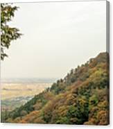 The Mountain View At The Yoro Waterfall In Gifu, Japan, November Canvas Print