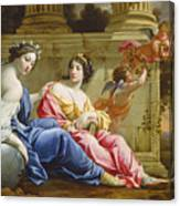 The Muses Urania And Calliope Canvas Print