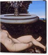 The Nymph Of The Fountain Canvas Print