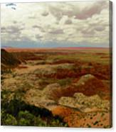 Viewpoint In The Painted Desert Canvas Print