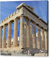 The Parthenon Acropolis Athens Greece Canvas Print