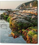 The Passetto Rocks At Sunrise, Ancona, Italy Canvas Print