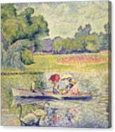 The Promenade In The Bois De Boulogne Canvas Print