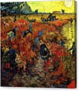 The Red Vineyard At Arles Canvas Print