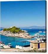 The Small Island Aponisos Near Agistri Island - Greece Canvas Print