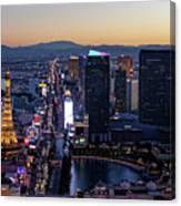 the Strip at night, Las Vegas Canvas Print