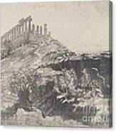 The Temple Of Concord On The Wall, Girgenti Canvas Print