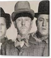 The Three Stooges Hollywood Legends Canvas Print