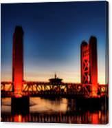 The Tower Bridge At Sunset Canvas Print