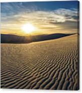 The Unique And Beautiful White Sands National Monument In New Mexico. Canvas Print