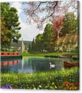 The Valley Cottage Variant 1 Canvas Print