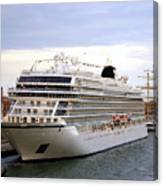 The Viking Star Cruise Liner In Venice Italy Canvas Print