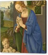 The Virgin Adoring The Child Canvas Print